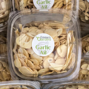 Garlic Chips - dehydrated and preserved